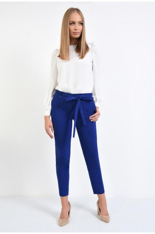 360 - pantaloni conici, betelie, cordon, funda, albastru