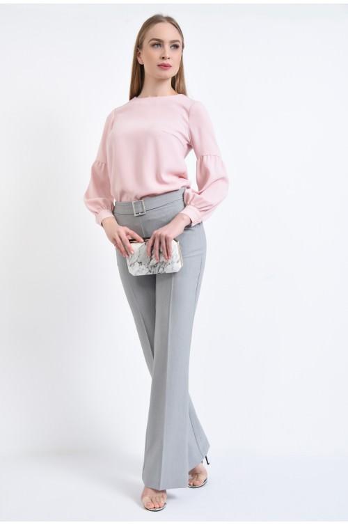 360 - Pantaloni casual, croi drept, betelie