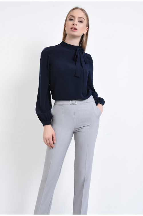 Pantaloni casual, croi conic