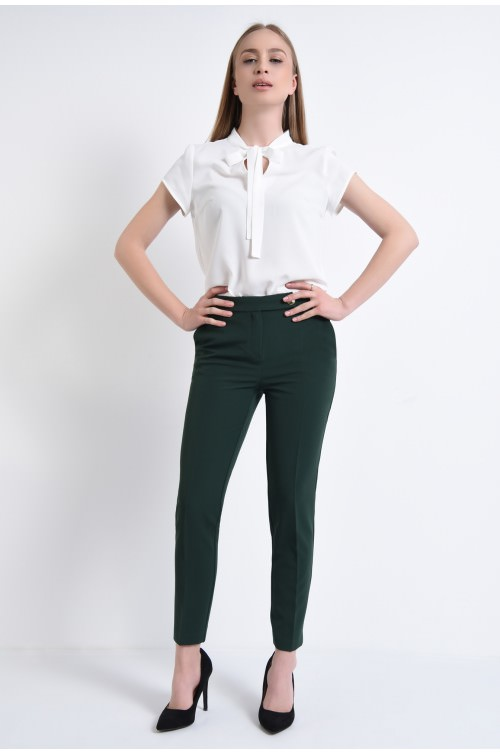 360 - pantaloni online, tigareta. la dunga, nasture fantezie auriu