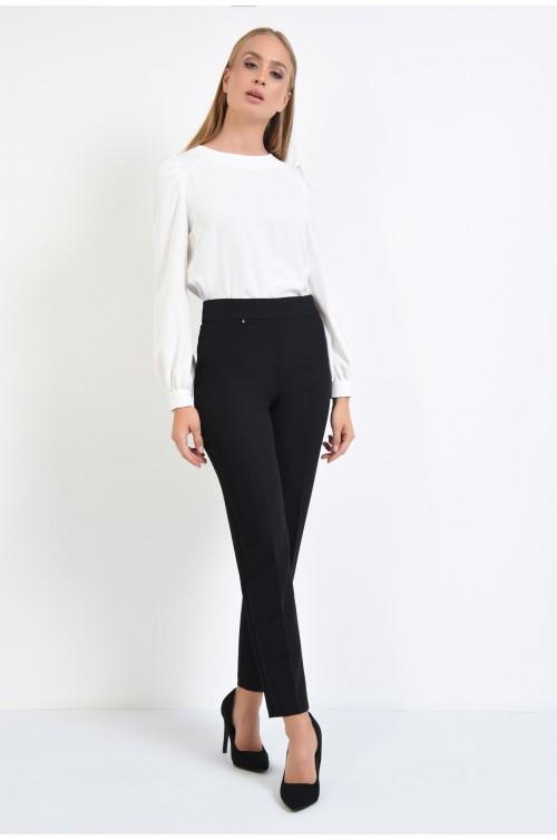 360 - pantaloni casual, conici, negri, pantaloni dama, online, buzunare