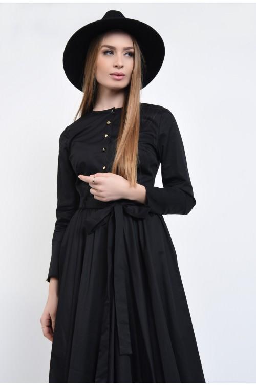 Rochie camasa evazata, cu maneci lungi