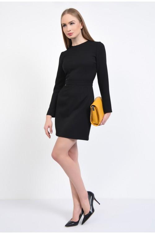 360 - Rochie de birou, neagra, mini, cambrata, rochii online