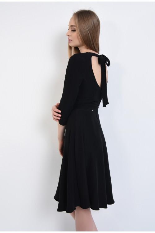 Rochie eleganta midi, spate decoltat