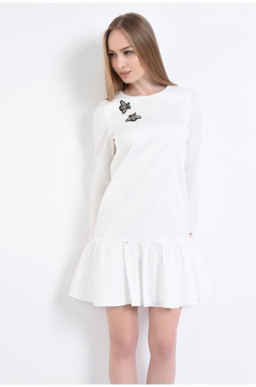 Rochie eleganta alba, mini
