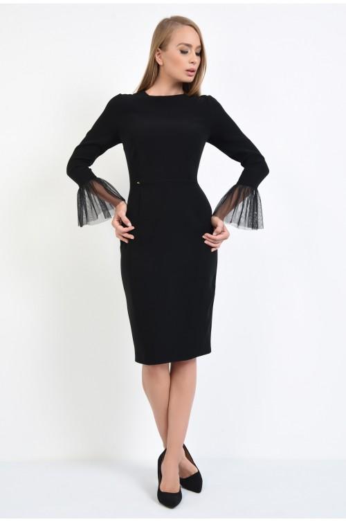 360 - rochie eleganta, bodycon, mansete transparente, rochii online, tul