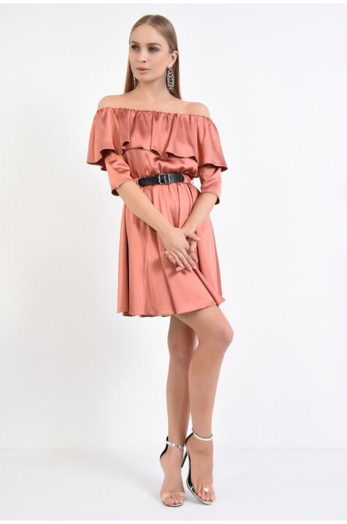 360 - rochie eleganta, talie pe elastic, evazata