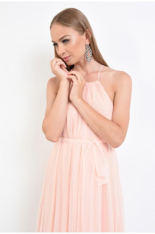rochie eleganta, croi evazat, bretele spaghetti, rochii online
