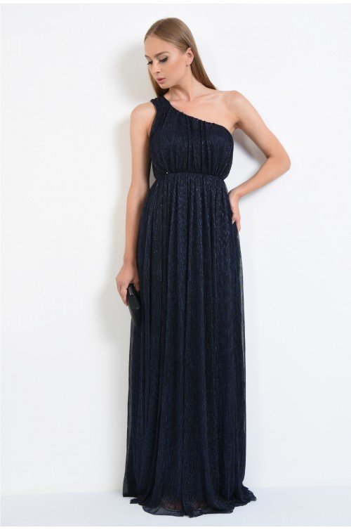 360 - rochie de seara din lurex, umar dezgolit, lungime maxi, rochii online