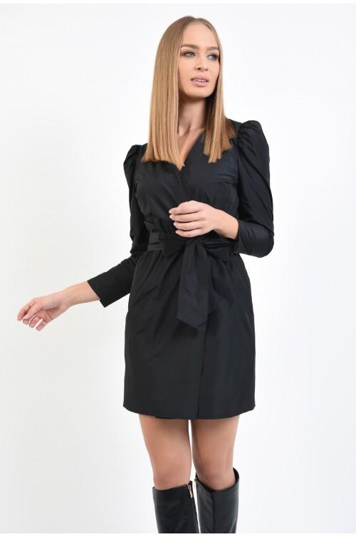 rochie cu aspect sifonat, mini, petrecuta, rochie-halat