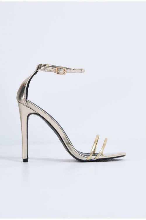 sandale elegante, aurii, stiletto