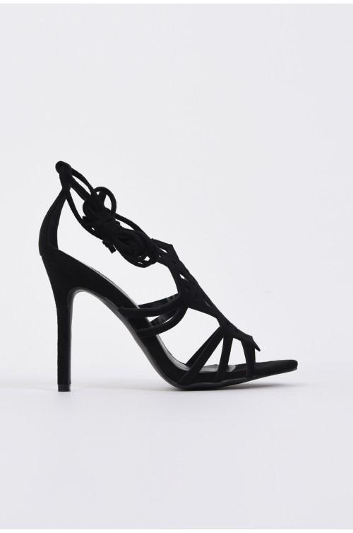 sandale elegante, negru, stiletto