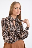3 - BLUZA CASUAL ANIMAL PRINT CU FUNDA