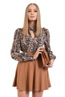 1 - BLUZA CASUAL ANIMAL PRINT CU FUNDA