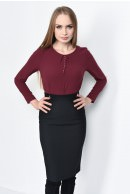 1 - BLUZA OFFICE DREAPTA BL 160-BURGUNDY