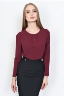 3 - BLUZA OFFICE DREAPTA BL 160-BURGUNDY