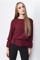 3 - BLUZA CASUAL LARGA BL 164-BURGUNDY