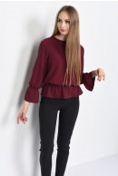 1 - BLUZA CASUAL LARGA BL 164-BURGUNDY