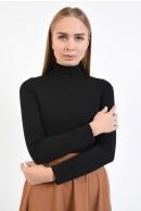 3 - BLUZA NEAGRA STRETCH CU GULER INALT