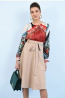 1 - BLUZA CASUAL CU PRINT ABSTRACT