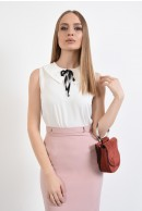 1 - BLUZA OFFICE ALBA CU FUNDA IN CONTRAST