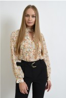 1 - BLUZA CASUAL DIN VOAL FLORAL