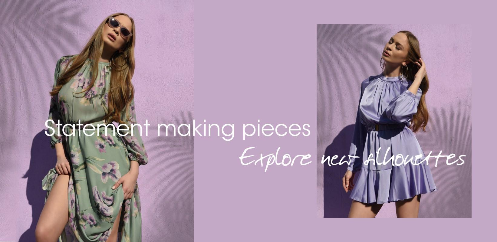 Descopera colectia de rochii POEMA cu imprimeuri si culori variate, in tendinte