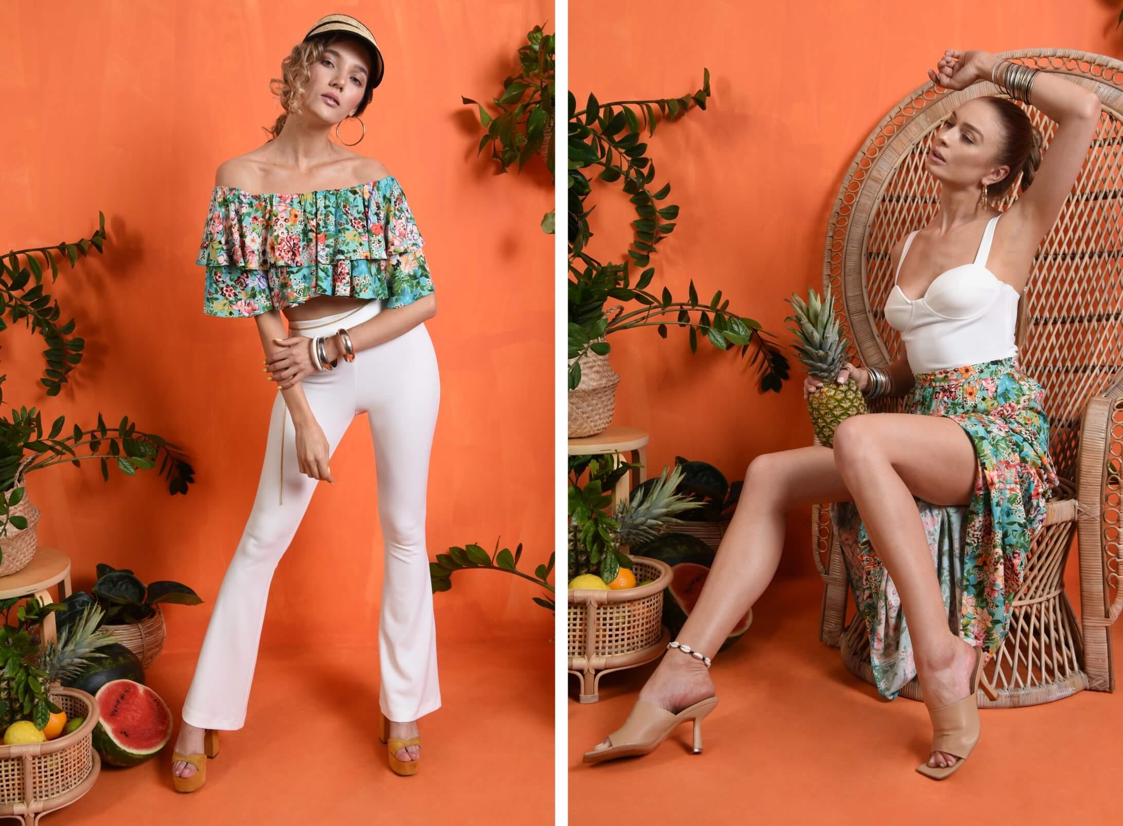 Rochii si bluze din materiale vaporoase cu imprimeuri florale