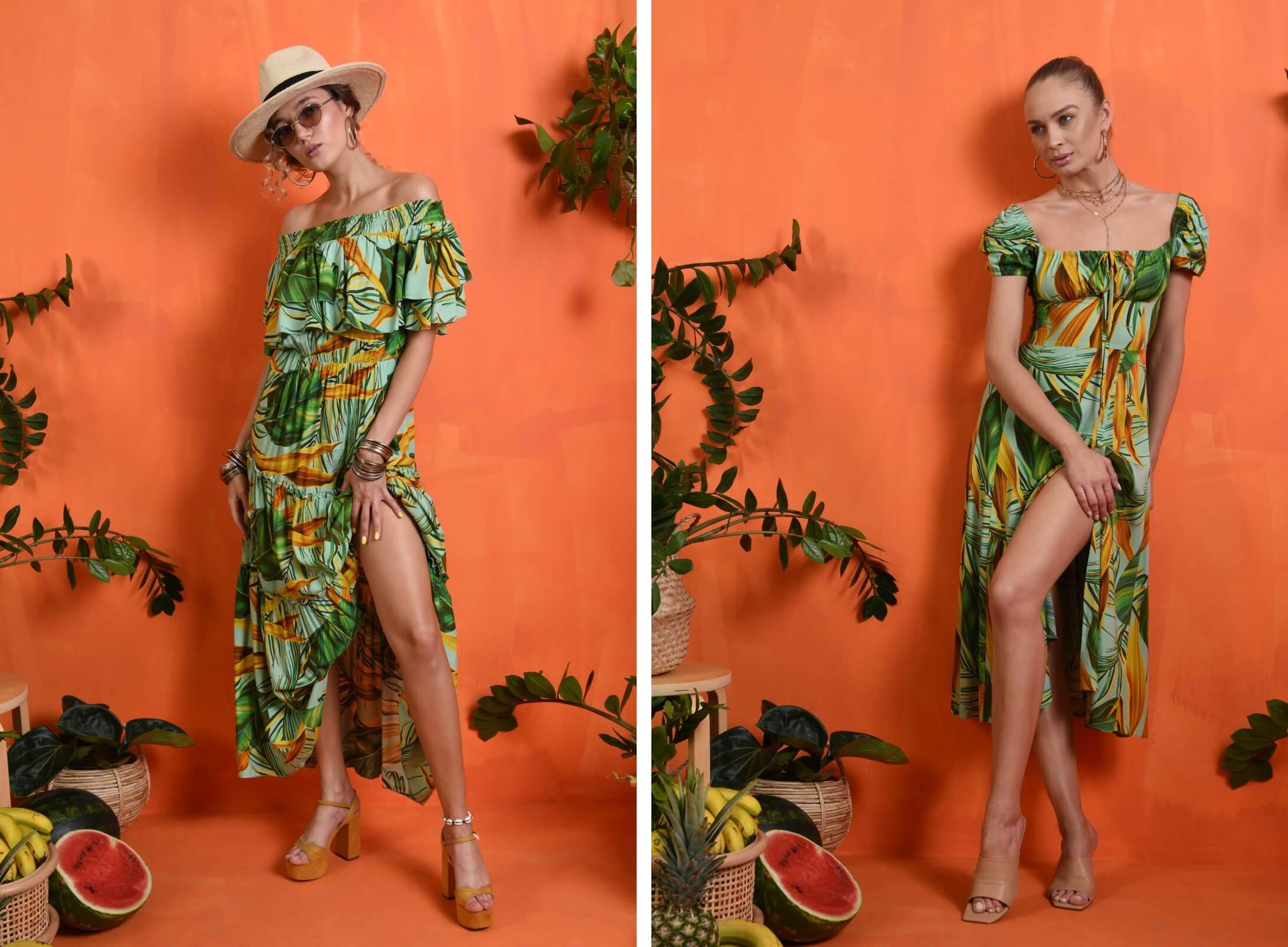 Rochii de vara POEMA: rochii casual imprimate si rochii elegante de seara